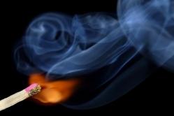 В момент возгорания