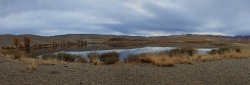 Озеро в алтайской степи