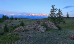 Рассвет в горах Курая