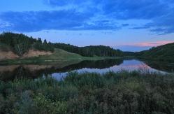 Озеро в д. Саратово, Горьковский район, Омская область