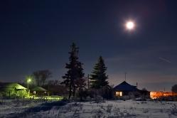 Полнолуние в д. Осиповка, Горьковский район, Омская область