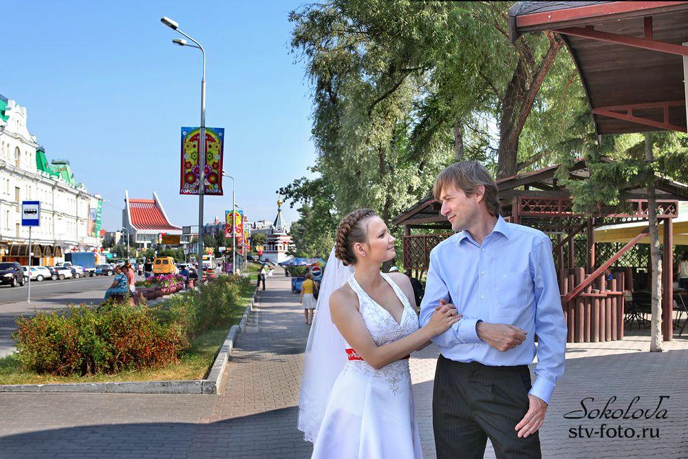 Свадебная прогулка по городу